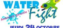 🎃 WATER FIGHT – JEUDI 24 OCTOBRE – 14H30 à 16H30 👻
